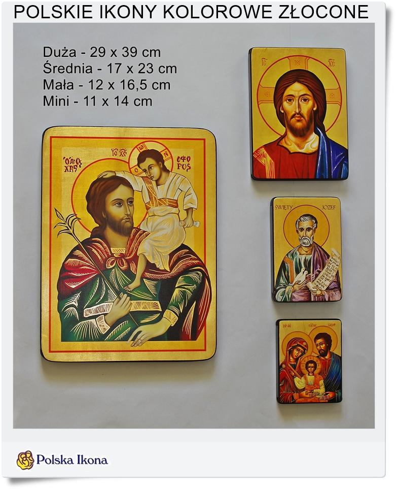 kolorowe ikony złocone