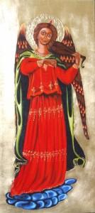ikona kanoniczna Aniol Grajacy