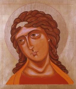 ikona kanoniczna Archaniol o zlotych wlosach