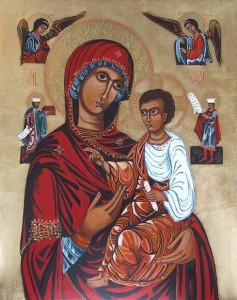 ikona kanoniczna MB Hodegetria XVI w