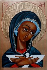 ikona kanoniczna Matka Boska z golebiem
