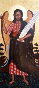 ikona kanoniczna Sw Jan  Crzciciel Aniol Pustyni XVII w